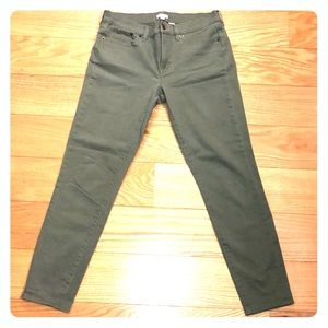 J Crew Factory Stretch Chinos in Olive